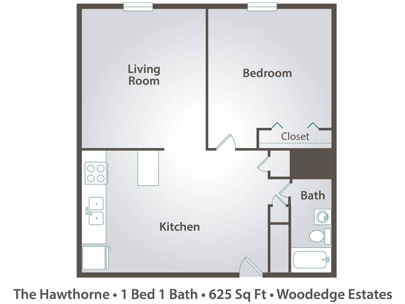 The Hawthorne - 1 Bedroom / 1 Bathroom Image