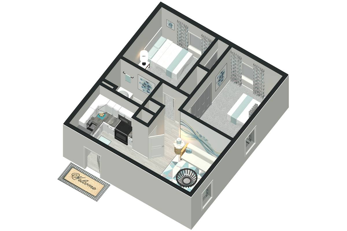 The Laurel - 2 Bedroom / 1 Bathroom Image