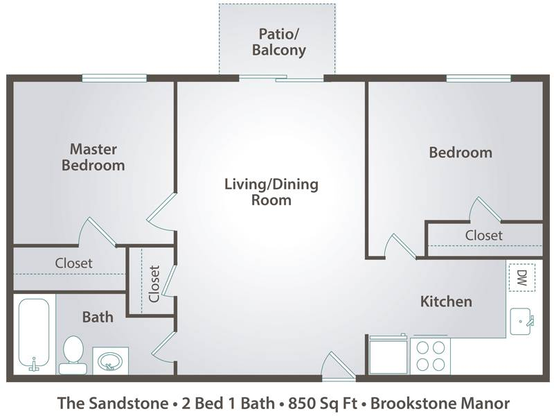 The Sandstone - 2 Bedroom / 1 Bathroom Image