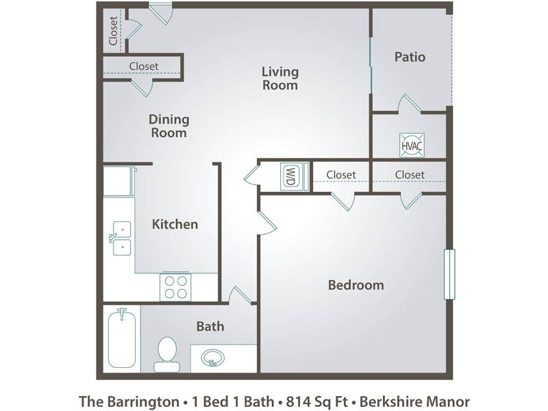 The Barrington - 1 Bedroom / 1 Bathroom Image