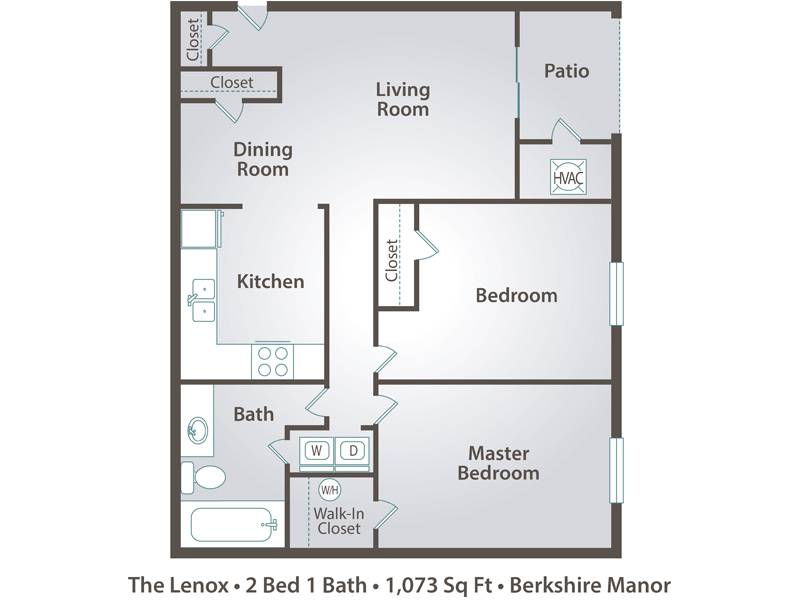 The Lenox - 2 Bedroom / 1 Bathroom Image