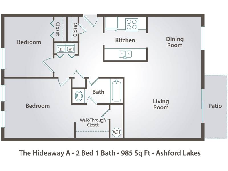 Master Bedroom With Bathroom Floor Plans. The Hideaway A 2 Bedroom 1  Bathroom Master With