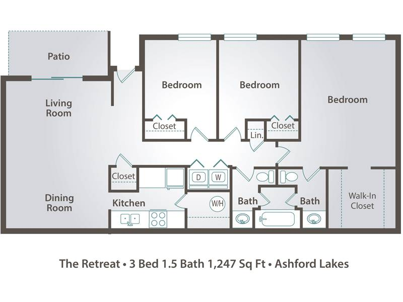 The Retreat - 3 Bedroom / 1.5 Bathroom Image