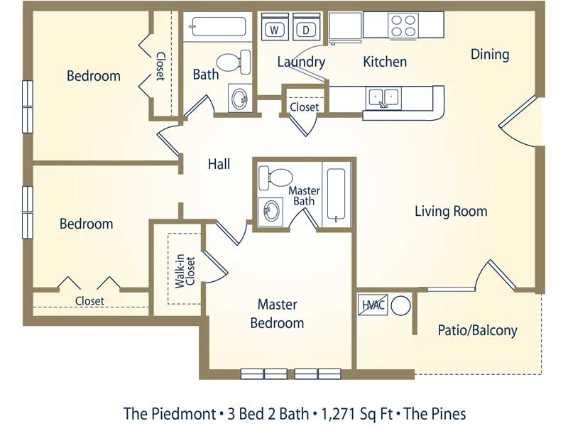 Apartment Floor Plans Pricing The Pines At Carolina