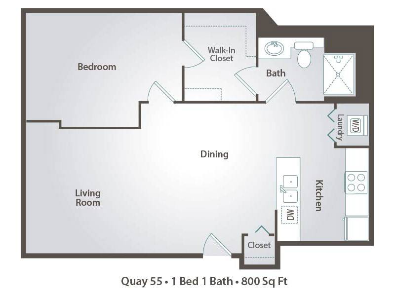 C1x1 - 1 Bedroom / 1 Bathroom Image