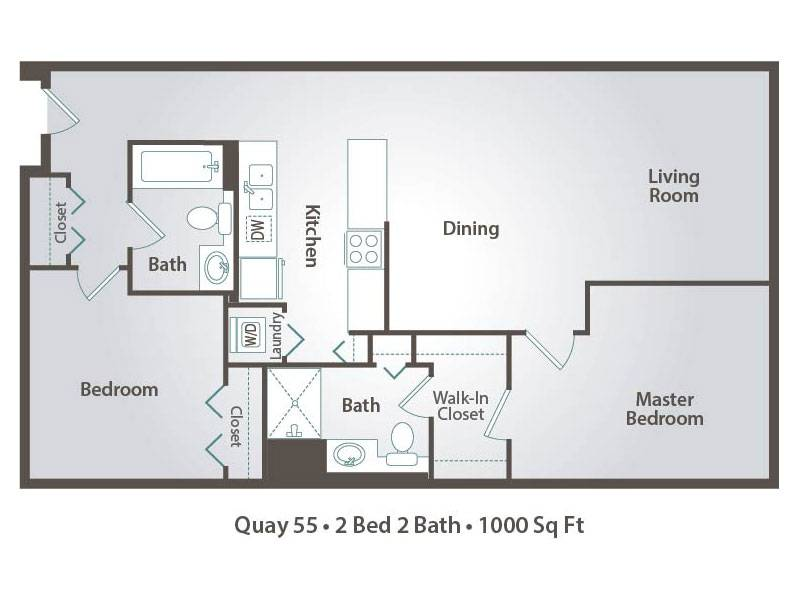 B 2x2 - 2 Bedroom / 2 Bathroom Image
