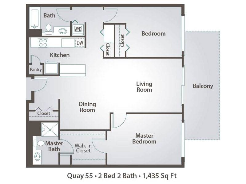 I-2 2x2 - 2 Bedroom / 2 Bathroom Image