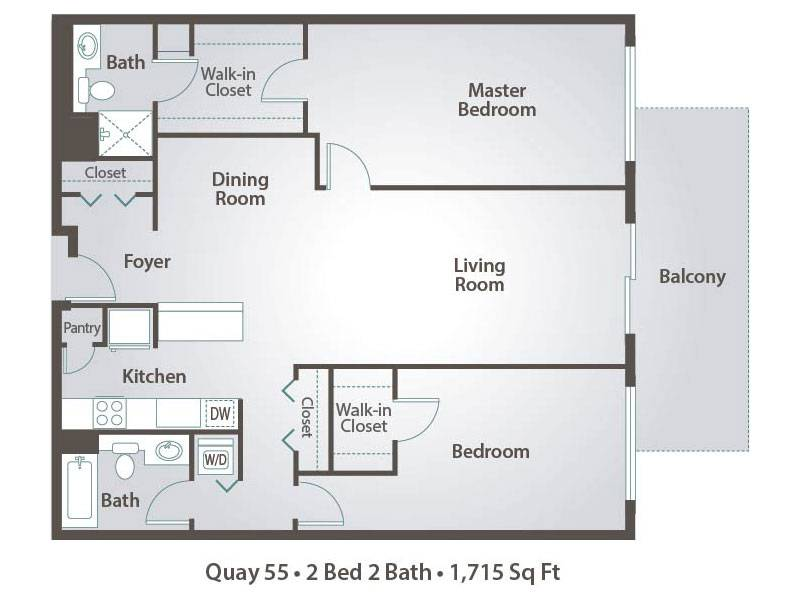 I 2x2 - 2 Bedroom / 2 Bathroom Image