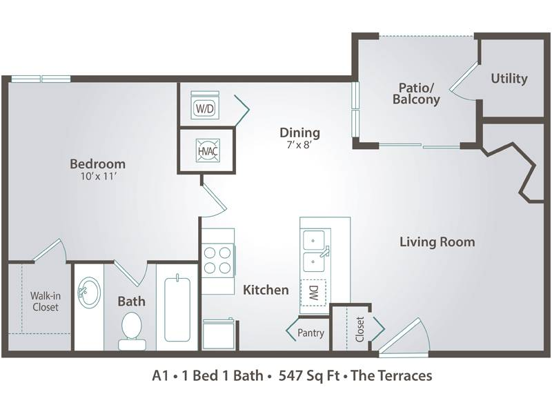 A1 - 1 Bedroom / 1 Bathroom Image
