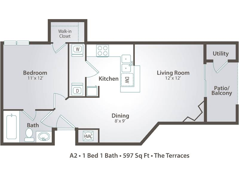 A2 - 1 Bedroom / 1 Bathroom Image