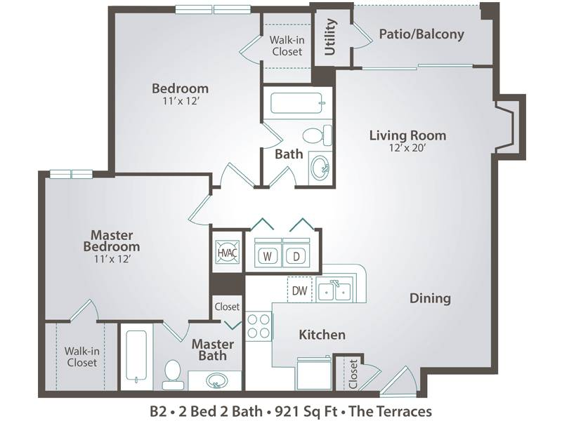B2 - 2 Bedroom / 2 Bathroom Image