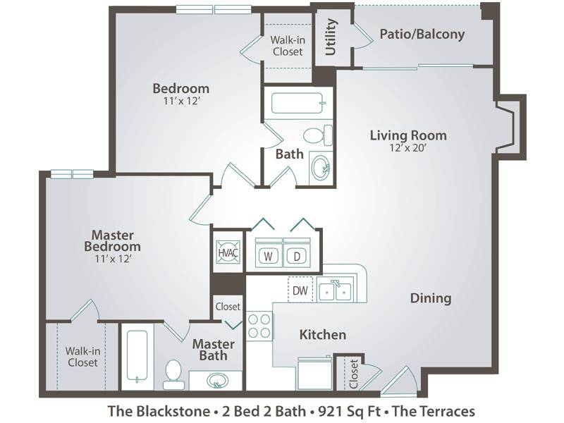 The Blackstone - 2 Bedroom / 2 Bathroom Image