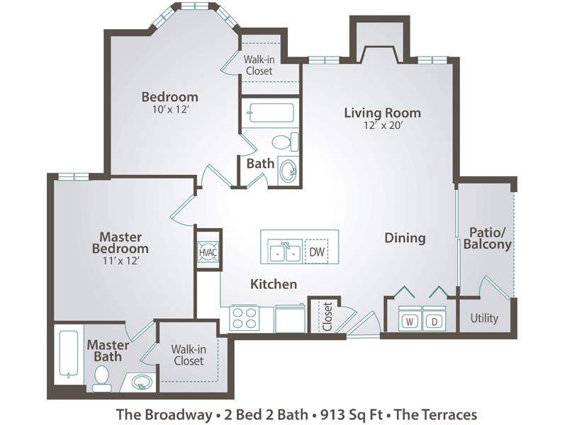 The Broadway - 2 Bedroom / 2 Bathroom Image