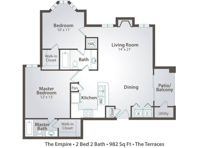 The Empire - 2 Bedroom / 2 Bathroom Image