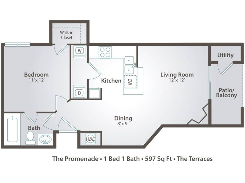 The Promenade - 1 Bedroom / 1 Bathroom Image