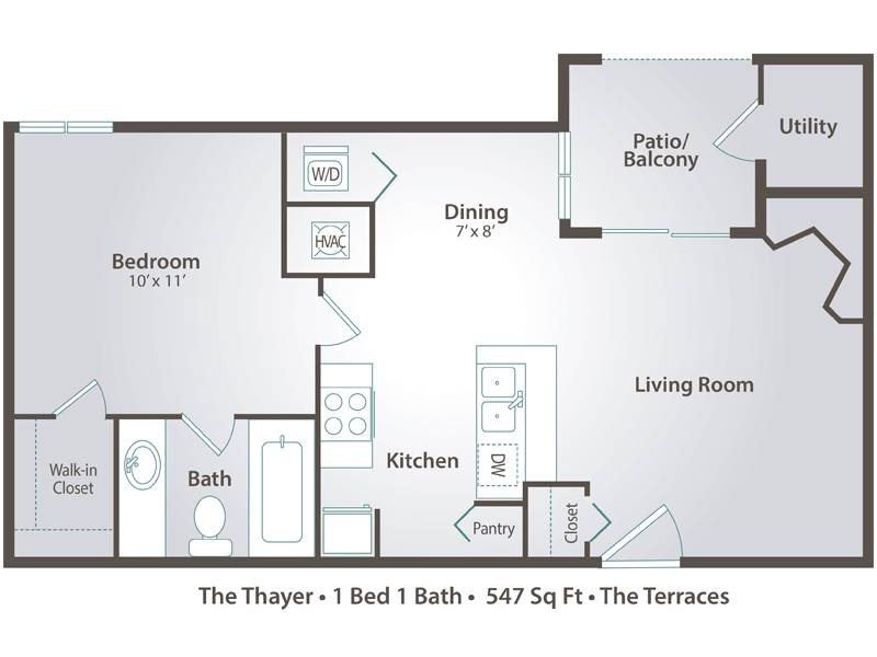 The Thayer - 1 Bedroom / 1 Bathroom Image