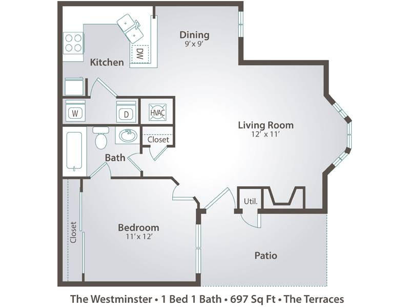 The Westminster - 1 Bedroom / 1 Bathroom Image