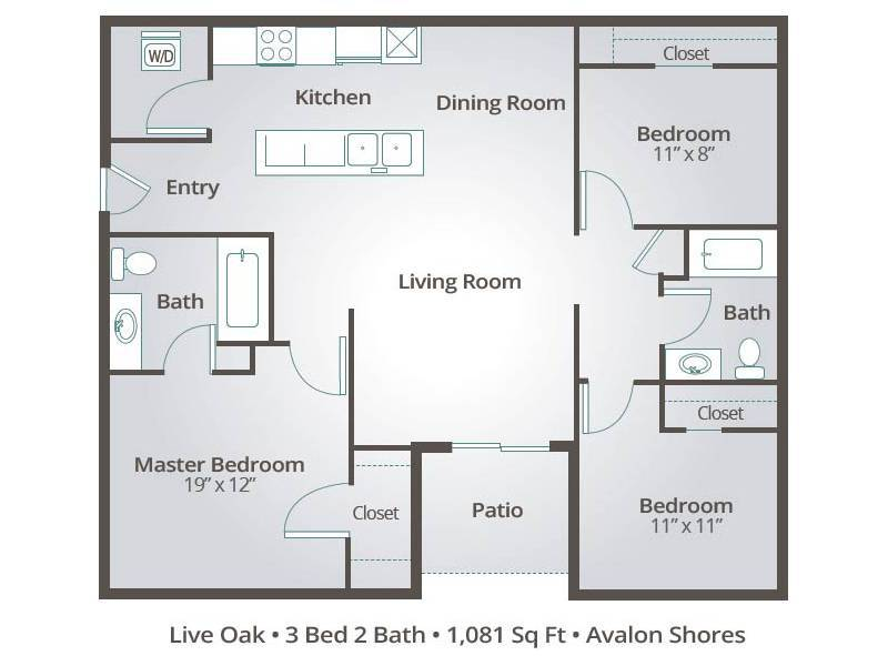 Live Oak - 3 Bedroom / 2 Bathroom Image