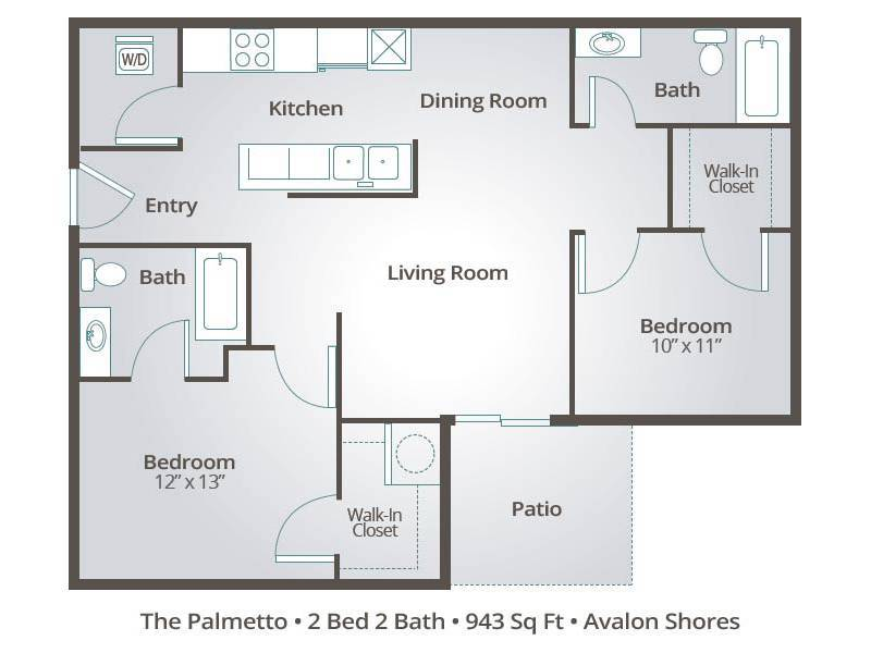 The Palmetto - 2 Bedroom / 2 Bathroom Image