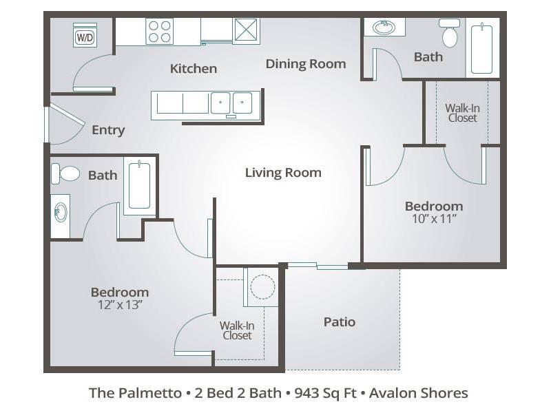 The Palmetto - 2 Bedroom / 2 Bathroom Image