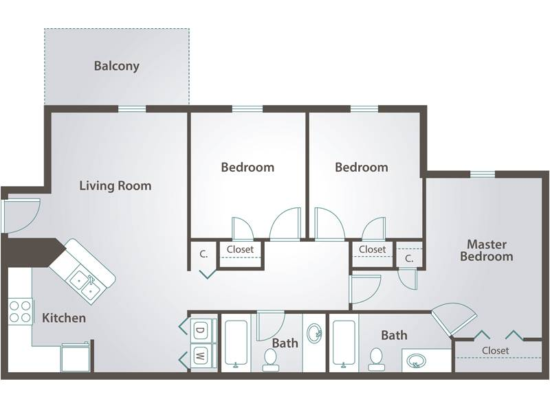 The Talmadge - 3 Bedroom / 2 Bathroom Image