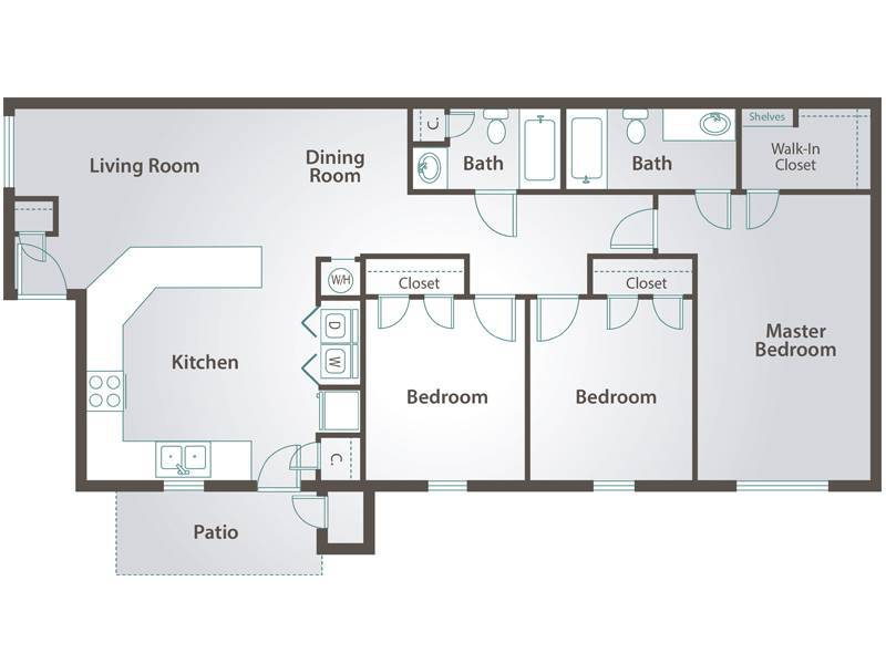 The Calhoun - 3 Bedroom / 2 Bathroom Image