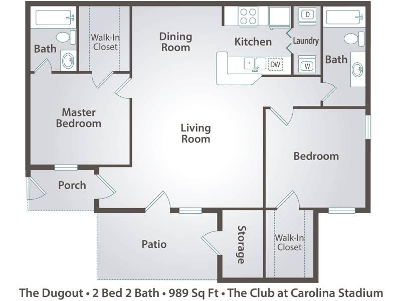 The Dugout (BTB)  - 2 Bedroom / 2 Bathroom Image