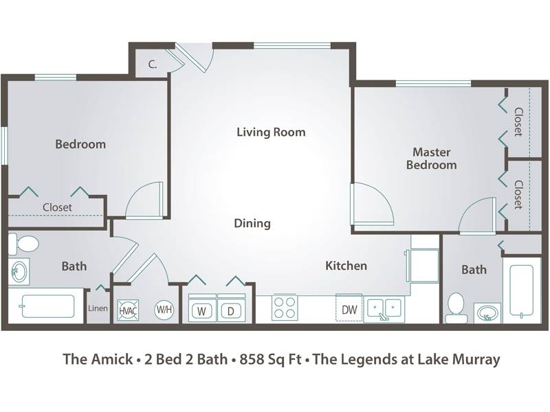 The Amick - 2 Bedroom / 2 Bathroom Image