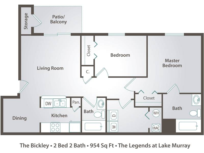 The Bickley - 2 Bedroom / 2 Bathroom Image