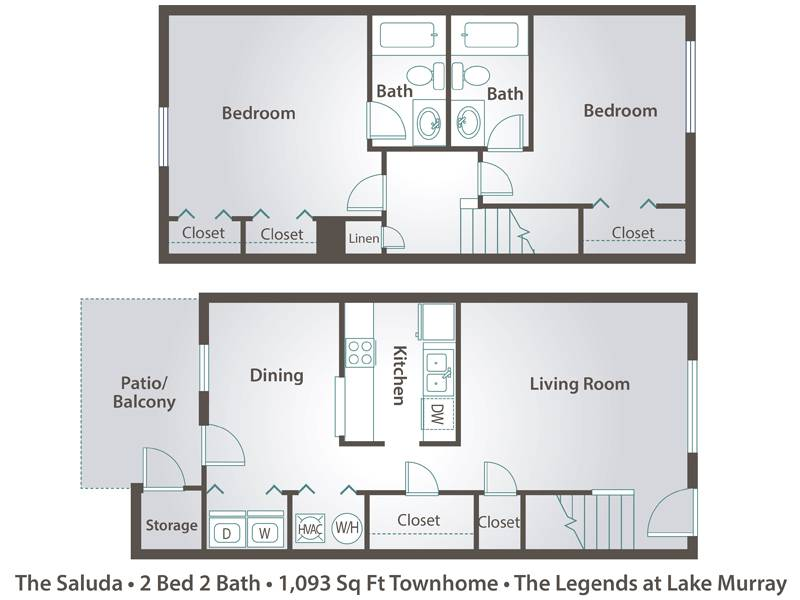 The Saluda - 2 Bedroom / 2 Bathroom Image