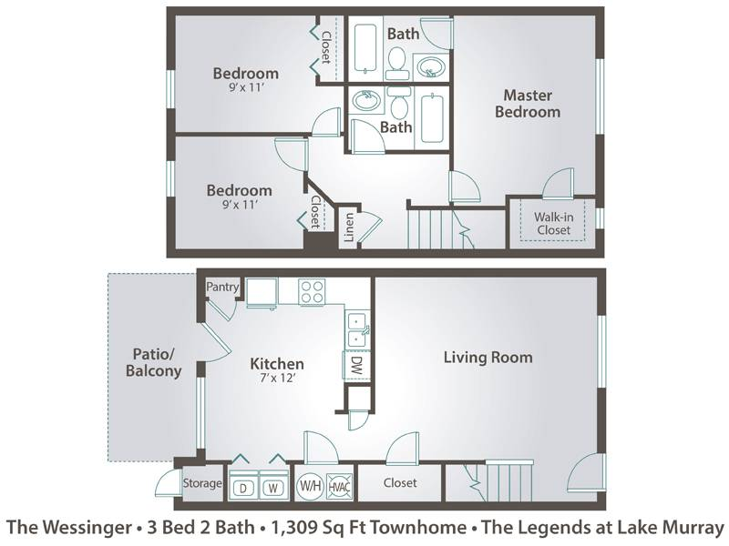 The Wessinger - 3 Bedroom / 2 Bathroom Image
