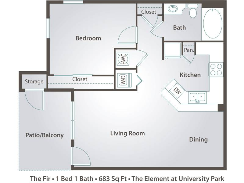 The Fir - 1 Bedroom / 1 Bathroom Image