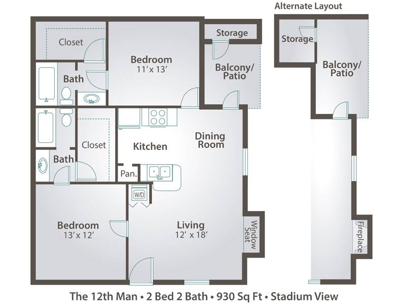 The 12th Man - 2 Bedroom / 2 Bathroom Image