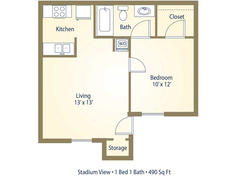 Apartment floor plans pricing stadium view college station tx - Planning the studio apartment floor plans ...