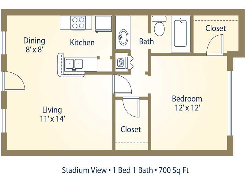 Apartment Floor Plans Pricing Stadium View College