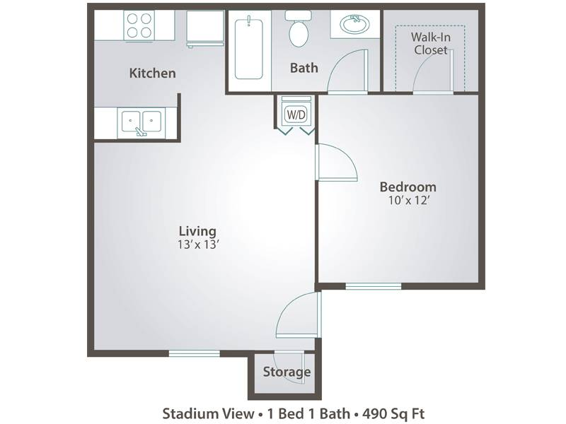 1 Bedroom Jr. - 1 Bedroom / 1 Bathroom Image