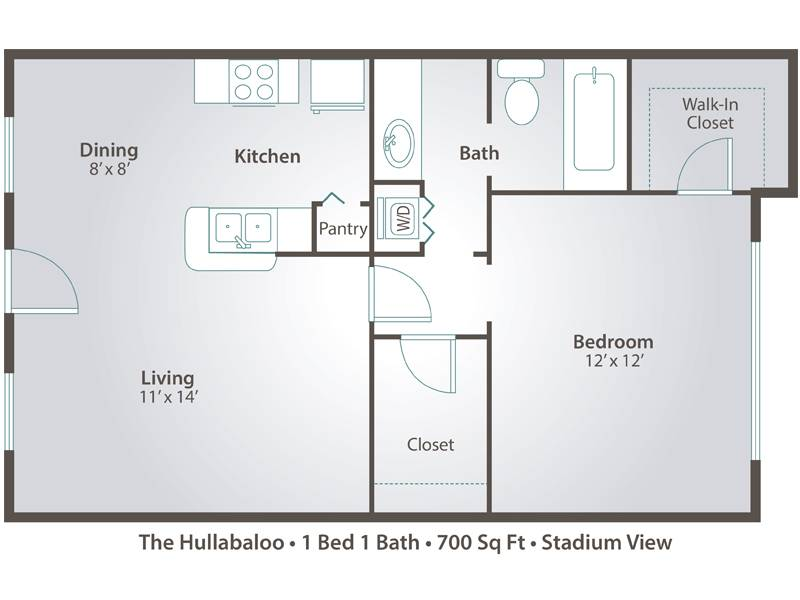 Bedroom Apartment Floor Plans Pricing Stadium View College
