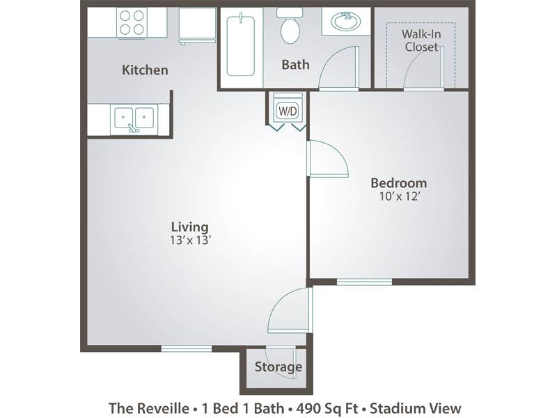 One Bedroom Floor Plans For Apartments Gurus Floor